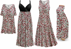 Plus Size Strawberry Animal Print Slinky Dresses Shirts Jackets Pants Palazzo�s & Skirts - Sizes Lg to 9x