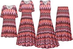 NEW! Plus Size Swirl Print Slinky Dresses Shirts Jackets Pants Palazzo�s & Skirts - Sizes Lg to 9x