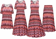 Plus Size Swirl Print Slinky Dresses Shirts Jackets Pants Palazzo�s & Skirts - Sizes Lg to 9x