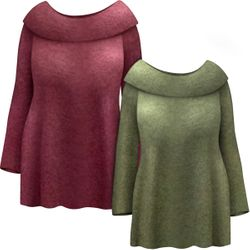 NEW! Plus Size Warm, Soft & Cozy Extra Wide Cowl Neck Sweater In Olive Or Burgundy Size Lg XL 0x 1x 2x 3x 4x 5x 6x 7x 8x