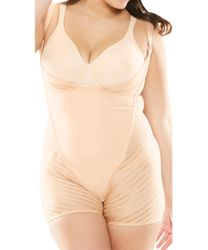NEW! Plus Size Wear Your Own Bra Nude Body Briefer Size 4x 5x