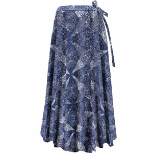 SALE! Customizable Plus Size Wrap Skirt Swimsuit Coverup Blue Diamonds Rayon Challis Print Lg XL 0x 1x 2x 3x 4x 5x 6x 7x 8x 9x