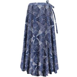 NEW! Plus Size Wrap Skirt Swimsuit Coverup Blue Diamonds Print Lg XL 0x 1x 2x 3x 4x 5x 6x 7x 8x 9x