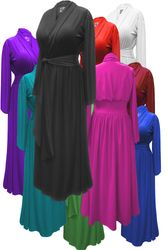 SALE! Plus Size Robe with Attached Belt! Poly/Cotton, Soft Rayon or Softer Brushed Jersey Knit Robes - Many Colors! Plus & Supersize 0x 1x 2x 3x 4x 5x 6x 7x 8x 9x