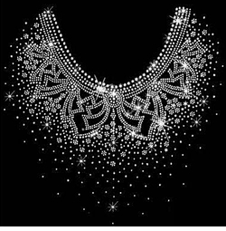 SALE! Pretty Flowery Neckline Sparkly Rhinestud Rhinestones Plus Size & Supersize T-Shirts S M L XL 2x 3x 4x 5x 6x 7x 8x 9x (All Colors)