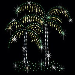 SALE! Pretty Palm Tree Pair Sparkly Rhinestud Rhinestones Plus Size & Supersize T-Shirts S M L XL 2x 3x 4x 5x 6x 7x 8x 9x (All Colors)