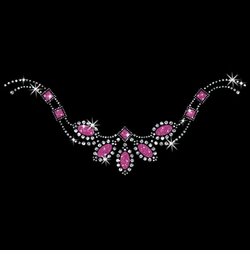 SALE! Pretty Pink Stones Neckline Sparkly Rhinestud Rhinestones Plus Size & Supersize T-Shirts S M L XL 2x 3x 4x 5x 6x 7x 8x 9x (All Colors)