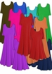 Sale! Princess Cut or A-Line Solid Slinky Customizable Plus Size & Supersize Tops & Dresses! Many Colors! L to 9x