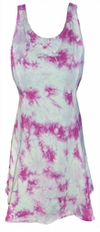 SALE! Hot Pink Marble Tank Poly Cotton Tie Dye Plus Size & SuperSize Sleeveless Tank 0x 1x 2x 3x 4x 5x 6x 7x 8x