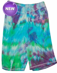 SOLD OUT! SALE! Purple, Blue, Green or Black Tie Dye on Gray Plus Size Shorts Md 5x