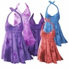 SALE! 2-Piece Purple Pink Blue Red or Green Tie Dye Plus Size & SuperSize Halter or Straps Swimsuit SwimDress 0x 1x 2x 3x 4x 5x 6x 7x 8x
