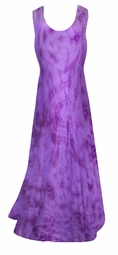 SALE! Purple Passion Tie Dye Poly Cotton Plus Size & SuperSize Princess Cut Dress 0x 1x 2x 3x 4x 5x 6x 7x 8x