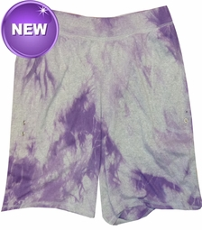 SALE! Purple Tie Dye on Gray Plus Size Shorts XL 0x 1x 2x 3x 4x 5x 6x 7x 8x 9x