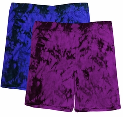 SALE! Purple or Black Tie Dye Plus Size Shorts Md 4x 5x