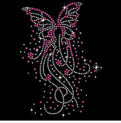 SALE! Butterfly Bursts Sparkly Rhinestud Rhinestones Plus Size & Supersize T-Shirts S M L XL 2x 3x 4x 5x 6x 7x 8x 9x (All Colors)
