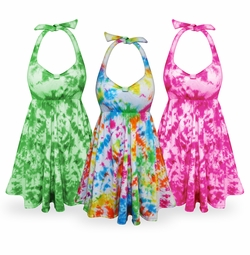 SALE! Tie Dye Plus Size & SuperSize Cotton Halter Top 0x 1x 2x 3x 4x 5x 6x 7x 8x