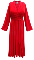 SALE! Solid Color Flowy Poly/Cotton or Rayon Robe - Plus Size Supersize 0x 1x 2x 3x 4x 5x 6x 7x 8x 9x