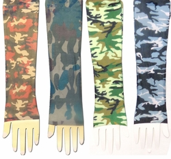 SALE! Red, Green, Blue/Gray or Blue/White Camouflage Tattoo Sleeves - 2 in a pack!