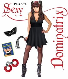 SALE! Plus Size Sexy Dominatrix Halloween Costume XL 1x 2x 3x 4x 5x 6x 7x 8x