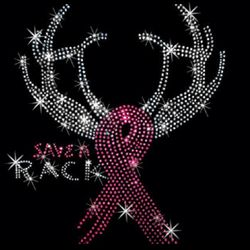 SALE! Save A Rack Breast Cancer Support Ribbon Sparkly Rhinestud Rhinestones Plus Size & Supersize T-Shirts S M L XL 2x 3x 4x 5x 6x 7x 8x 9x (All Colors)