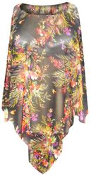 SOLD OUT! Sheer Black Floral Plus Size Supersize Poncho
