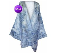 SOLD OUT! SALE! Sheer Layer Diva Blue Butterfly Chiffon Plus Size Jacket or Coverup 6x