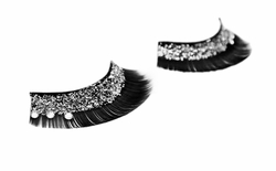 NEW! Silver Glitter & Rhinestone Sparkly Sparkly Sparkly Lashes