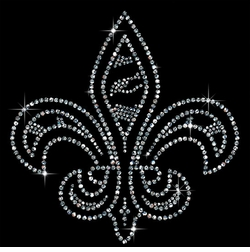 SALE! Small Fleur de Lis Sparkly Rhinestud Rhinestones Plus Size & Supersize T-Shirts S M L XL 2x 3x 4x 5x 6x 7x 8x 9x (All Colors)