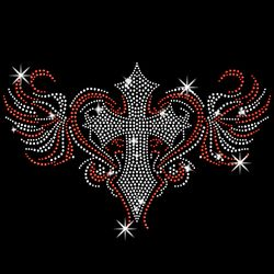 SALE! Sparkly Rhinestud Rhinestones Colorful Cross Heart Wing Plus Size & Supersize T-Shirts S M L XL 2x 3x 4x 5x 6x 7x 8x 9x (All Colors)