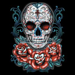 SALE! Sugar Skull Red Roses Plus Size & Supersize T-Shirts S M L XL 2x 3x 4x 5x 6x 7x 8x 9x (All Colors)