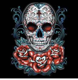 SOLD OUT! Sugar Skull Red Roses Plus Size & Supersize T-Shirts S M L XL 2x 3x 4x 5x 6x 7x 8x 9x (All Colors)
