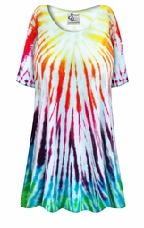 SALE! Sun Burst Tie Dye Plus Size & Supersize X-Long T-Shirt 0x 1x 2x 3x 4x 5x 6x 7x 8x