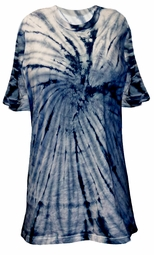 SALE! Navy Tie Dye Swirl or Marble Short Sleeve Plus Size T-Shirt L XL 2x 3x 4x 5x 6x