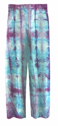 CLEARANCE! Turquoise & Purple Tie Dye Straight Leg Pocket Zippered Plus Size Denim Jeans and Capris 4x 5x 32T