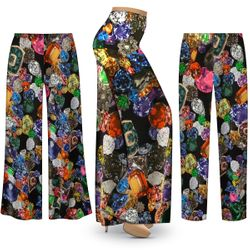 NEW! Customizable Plus Size Million $ Baby Slinky Print Palazzo Pants - Tapered Pants - Sizes Lg XL 1x 2x 3x 4x 5x 6x 7x 8x 9x