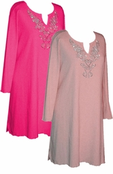 SALE! Plus Size Pink Rhinestone Tops, Sparkly Plus Size & Supersize Extra Long Shirts 0x 1x 2x 3x 4x 5x 6x 7x 8x 9x