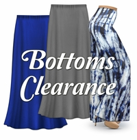 Plus Size 1x to 9x Bottoms on CLEARANCE!