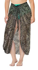 Plus Size Sheer Risque Zebra Print Sarong - Pareo Swimsuit Coverup - Customizable - 1x 2x 3x 4x 5x 6x 7x 8x 9x