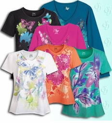 PLUS SIZE<br>T-Shirts With All-Over Print or Plain<br>(Sizes Lg to 6XL)