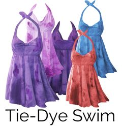 Plus Size Tie Dye Swimwear