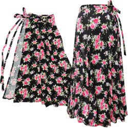 NEW! Plus Size Wrap Skirt Swimsuit Coverup Roses Print Lg XL 0x 1x 2x 3x 4x 5x 6x 7x 8x 9x