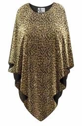 SALE! Sparkling Gold & Black Glimmer Animal Print Plus Size Supersize Poncho