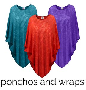 Ponchos & Wraps<br>Plus Size & Supersize 0x to 9x