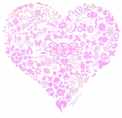 SALE! Pretty Detailed Pink Heart Plus Size & Supersize T-Shirts S M L XL 2x 3x 4x 5x 6x 7x 8x (All Colors)
