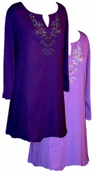 SALE! Plus Size Purple Rhinestone Tops, Sparkly Plus Size & Supersize Extra Long Shirts 0x 1x 2x 3x 4x 5x 6x 7x 8x 9x
