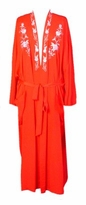 SOLD OUT! Red Embroidered Poly/Silk Robes. Plus Size & Supersizes 3x 6x