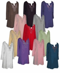 Rhinestone & Glittery Tops & T-Shirts<br>Plus Size & Supersize 0x to 9x
