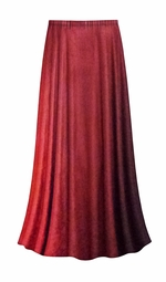 CLEARANCE! Plus Size Red to Burgundy Velvet Ombre Print Skirt Lg 0x/1x 2x/3x