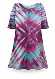 SALE! Amethyst Tie Dye Plus Size & Supersize X-Long T-Shirt 0x 1x 2x 3x 4x 5x 6x 7x 8x