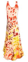 CLEARANCE! Autumn Fashionista Tie Dye Plus Size & SuperSize Princess Cut Tank Dress 3x
